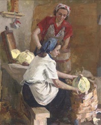 cabbage cutters by konstantin g. dorochov