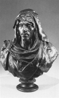 bust of an arab by giulio tadolini