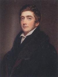 edward j. cooper, black coat, waistcoat, white chemise and fur-trimmed burgundy-lined black cloak by william john (sir) newton