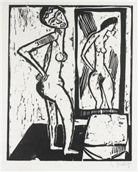 mädchen vor dem spiegel (schapire h.159) by karl schmidt-rottluff