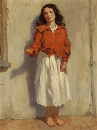 girl begging for money by louis soonius