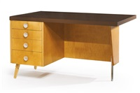 desk from the mildred and grant beckstrand house by richard neutra