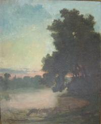 bord de lac by georgette agutte