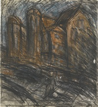 school building by leon kossoff
