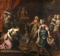 salomon sacrifiant aux idoles by johann heiss