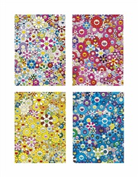 four prints by the artist by takashi murakami
