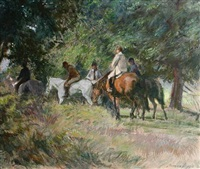 horse riders by norman hepple
