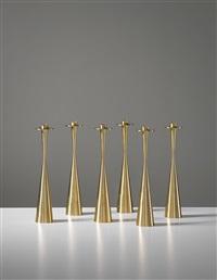 candlesticks, model no. 189 (set of 6) by tapio wirkkala