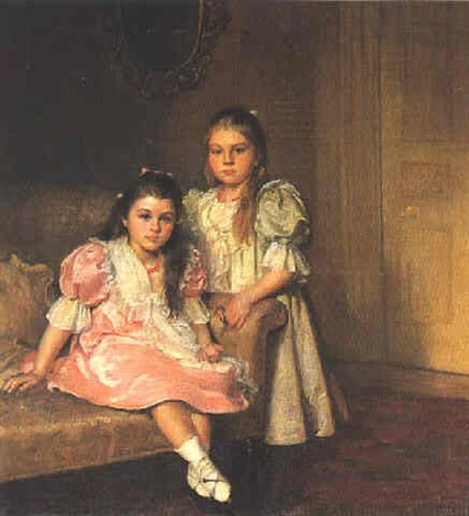 portrait of the daughters of lawrence pilkington by susan isabel dacre