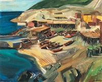 fishing boats, newfoundland by kathleen daly pepper