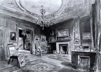 the interior of the salon at barbizon house by hanslip fletcher