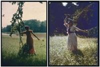 femmes dans les prés (2 works) by edmond goldschmidt
