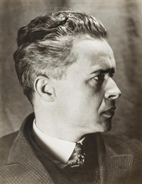 portrait of aleksandr dovzhenko (film director) by alexander rodchenko