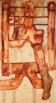birth iv by leon golub