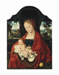 the virgin and child by joos van cleve