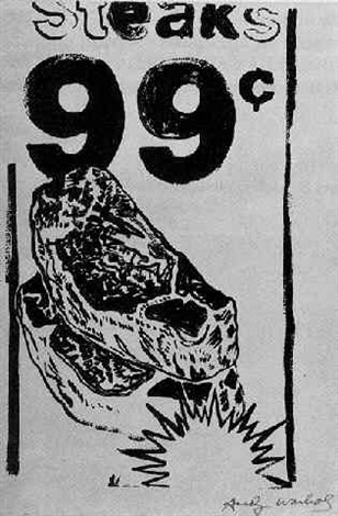 99 Cent Steak By Andy Warhol