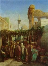 la colonnade de bacchus à latakiéh, syrie by camille rogier