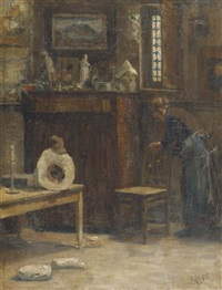 cleaning the studio by august allebé