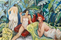 female figures in repose by andre naude