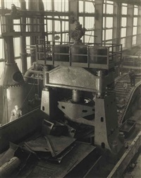 ford plant, river rouge, steam hydraulic shear by charles sheeler