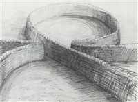 proposed wall division sheep sculpture, stonewood by andy goldsworthy
