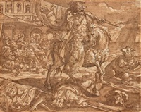 l'empereur cyrus à cheval vainqueur des mèdes by marten de vos