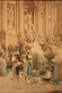 les enfants devant la fontaine de trévi by e(ttore) ascenzi