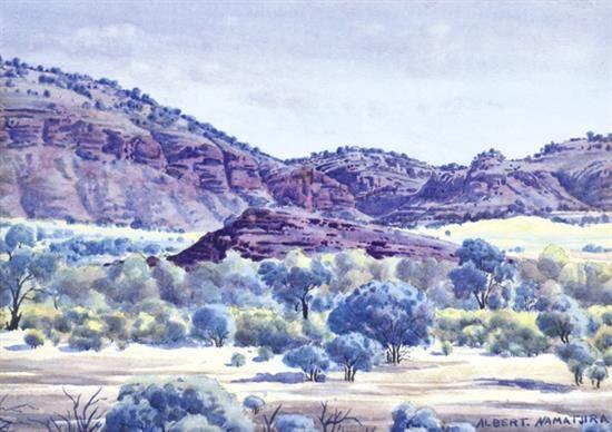 tent hill gully by albert namatjira