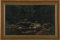 woodland stream by george hetzel