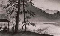 mondstimmung an einem see in kyoto (aus der folge: beruhmte ansichten von kyoto) by nomura yoshimitsu