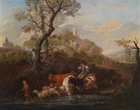 hirten in idyllischer landschaft by franciscus xavery