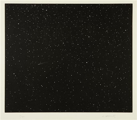 comet from the skowhegan suite portfolio by vija celmins