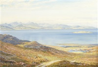 arran from largs by george melvin rennie