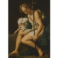 saint john, full-length in a landscape by luigi amidano