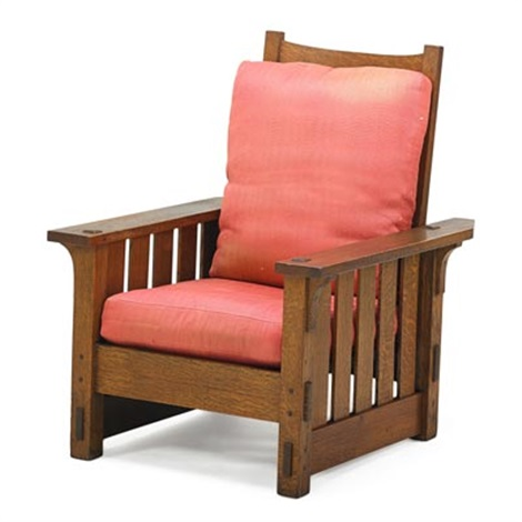 Flat Arm Morris Chair (no. 332) By Gustav Stickley