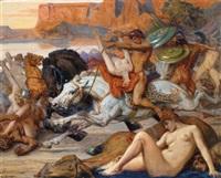 der frauenraub (mythologische szene) by eduard kaempffer