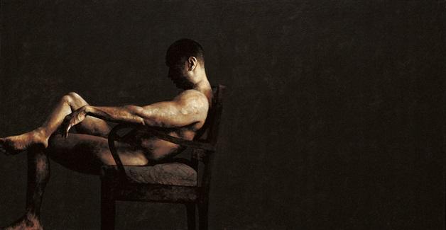 seated figure by ahmad zakii anwar