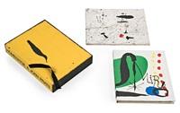 joan miró. su obra gráfica (book w/1 work); tracé sur l'eau. suite d'aquarelles (book w/1 work) by joan miró