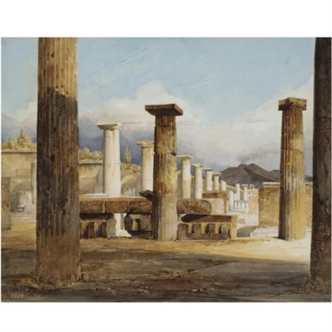 ruins of pompeii by jean baptiste louis hubert