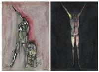 senza titolo (2 works) by agenore fabbri