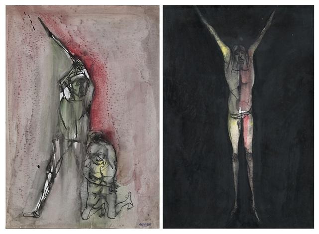 senza titolo 2 works by agenore fabbri