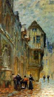 servantes à la fontaine, vieille rue rouanaise by léon jules lemaitre