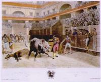 mort du taureau, pl.8 by leon jean-baptiste sabatier