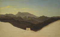 view of san vito with monte guadagnolo in the distance by heinrich reinhold