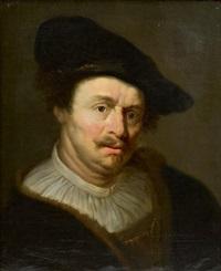 portrait d'homme au manteau de fourrure by ferdinand bol
