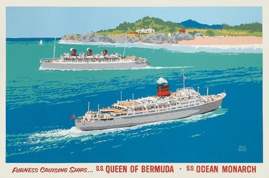 Furness Cruising Ships SS Queen Of Bermuda SS Ocean Monarch - Queen of bermuda cruise ship