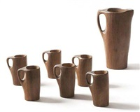 ensemble composé d'un pichet et de six tasses (set of 7) by alexandre noll