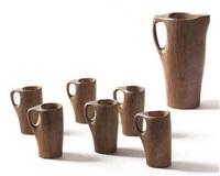 ensemble composé d'un pichet et de six tasses (set of 7) by alexandre noll