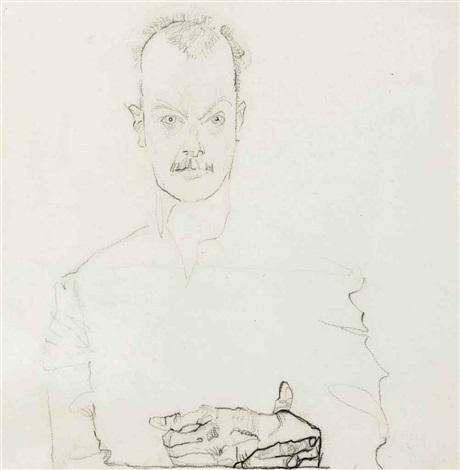 porträt von arthur roessler by egon schiele