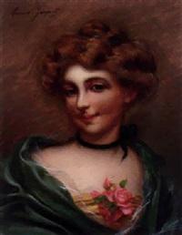 femme à la rose by maurice jacquet